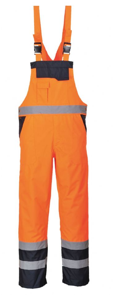 Portwest S489 Contrast Lined Waterproof Bib & Brace